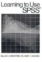 Learning to Use SPSSx