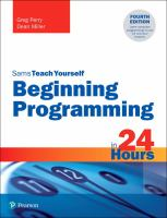 Sams Teach Yourself Beginning Programming in 24 Hours