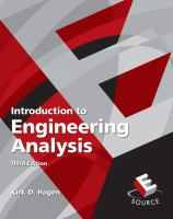 Introduction to Engineering Analysis