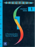 Spectrum 1, A Communicative Course in English