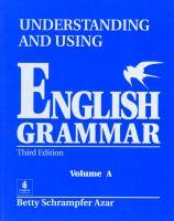 Understanding and Using English Grammar : Volume A