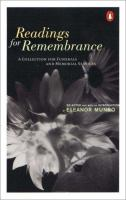 Readings for Remembrance