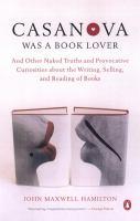 Casanova Was A Book Lover