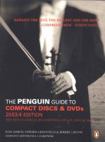 The Penguin Guide to Compact Discs & DVDs