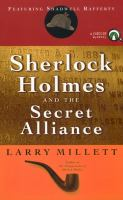 Sherlock Holmes And The Secret Alliance