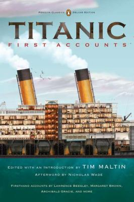 Book cover of Titanic First Accounts.
