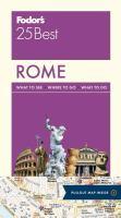 Fodor's 25 Best Rome [2016]