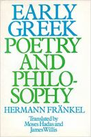 Early Greek Poetry and Philosophy