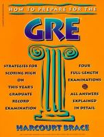 How to Prepare for the Graduate Record Examinations