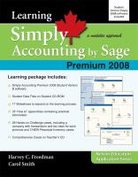 Learning Simply Accounting by Sage Premium 2008