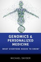 Genomics and Personalized Medicine