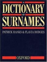 A Dictionary of Surnames