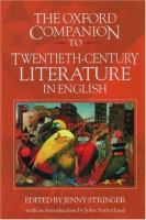 Oxford Companion to Twentieth-century Literature in English