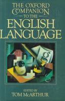 The Oxford Companion to the English Language