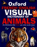 Oxford French-English Visual Dictionary of Animals
