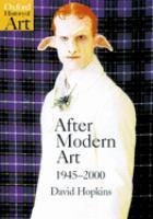 After Modern Art, 1945-2000