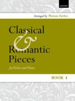 Classical and romantic pieces for violin and piano