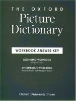 The Oxford Picture Dictionary Workbook Answer Key