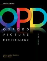 OPD, Oxford picture dictionary English-Spanish, Inglš-Espaǫl