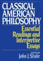 Classical American Philosophy