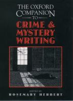The Oxford Companion to Crime and Mystery Writing