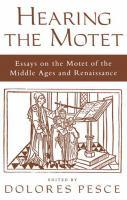 Hearing the Motet