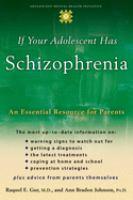 If your Adolescent Has Schizophrenia