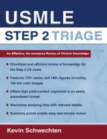 USMLE Step 2 Triage