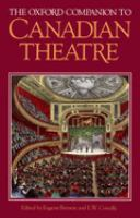 Oxford Companion To Canadian Theatre