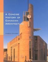 A Concise History of Canadian Architecture