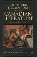 The Oxford Companion to Canadian Literature
