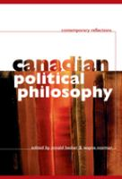 Canadian Political Philosophy