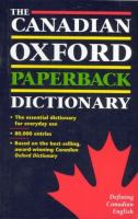 The Canadian Oxford Paperback Dictionary