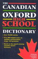 The Canadian Oxford High School Dictionary