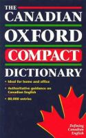 The Canadian Oxford Compact Dictionary