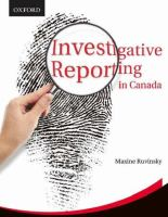 Investigative Reporting in Canada