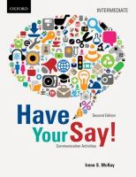 Have your Say[sound Recording]