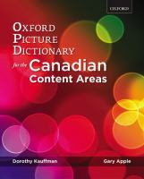 The Oxford Picture Dictionary for the Canadian Content Areas