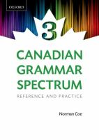 Canadian Grammar Spectrum