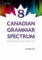 Canadian Grammar Spectrum 8