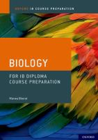 Biology for IB Diploma Course Preparation