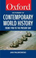 A Dictionary of Contemporary World History, From 1900 to the Present Day