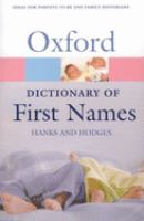 A Dictionary of First Names