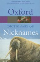Oxford Dictionary of Nicknames