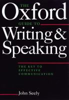 The Oxford Guide to Writing and Speaking