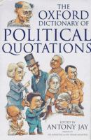 The Oxford Dictionary of Political Quotations