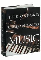The Oxford Companion to Music