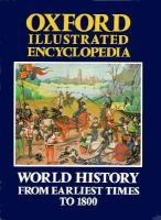 World History From Earliest Times to 1800