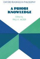 A Priori Knowledge