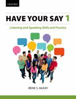 Have your Say 1